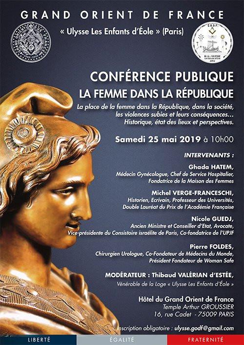 Conférence publique | Samedi 25 mai 2019 - PARIS