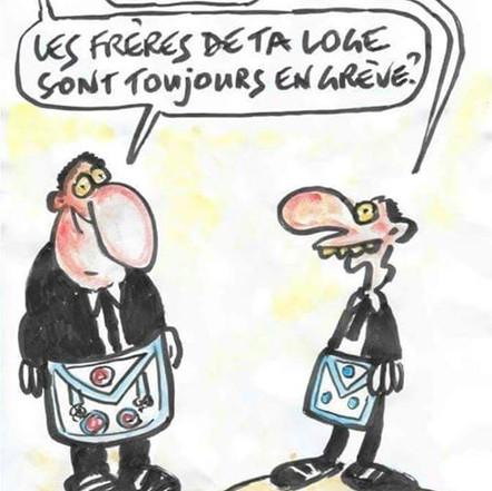 Cartoon: - «Tu travailles a'quel rite?»