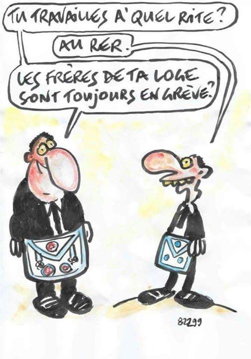 Cartoon: - «Tu travailles a`quel rite?»