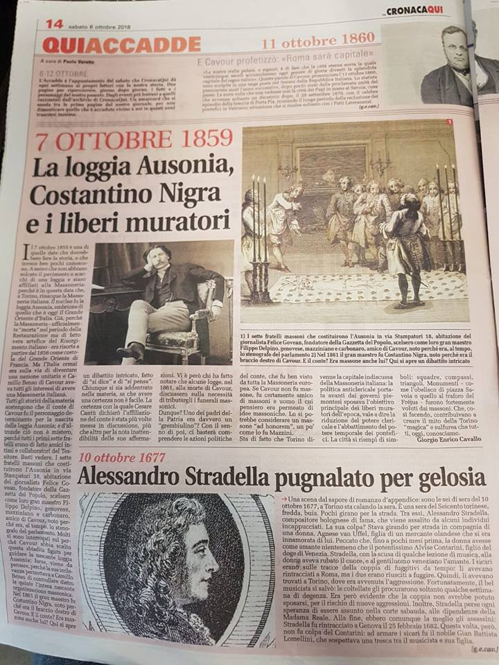 Torino - Cronaca Qui, di Sabato, 6 Ottobre, pag. 14 | Torino - sábado, dia 6 de outubro, pag. 14
