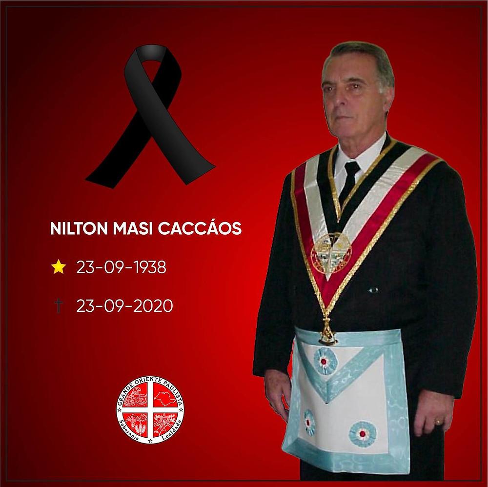 Maçonaria - NOTA DE FALECIMENTO: NILTON MASI CACCÁOS | Grande Oriente Paulista