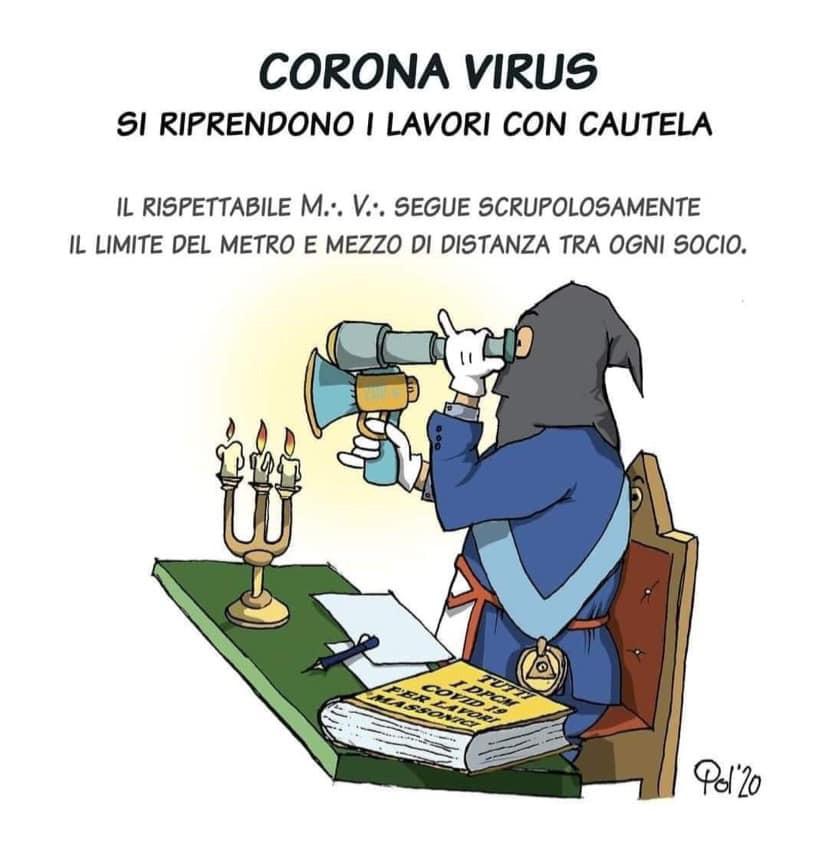 Massoneria - Cartoon: - Corona Viris - Si riprendono I Lavori com Cautela