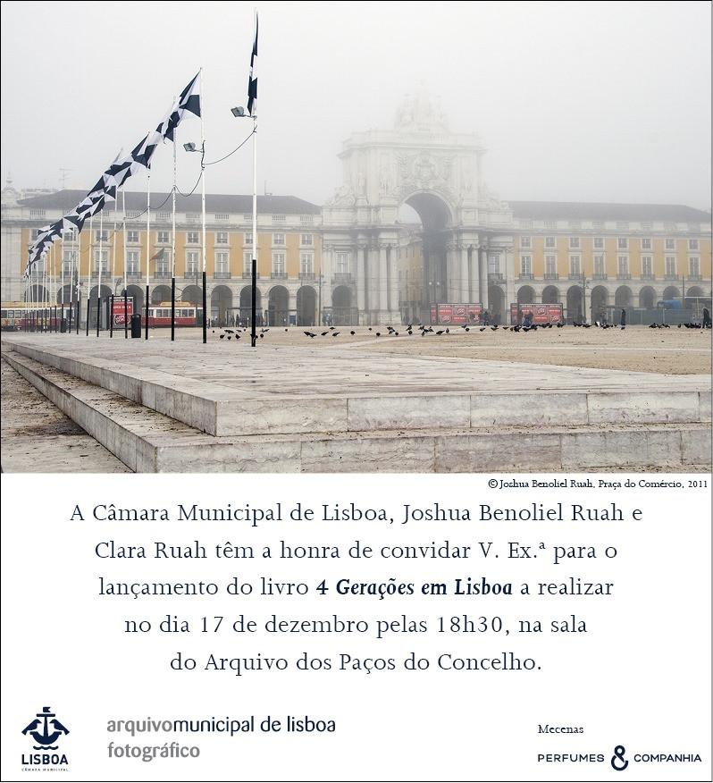 CONVITE | Lançamento do livro «4 Gerações em Lisboa».