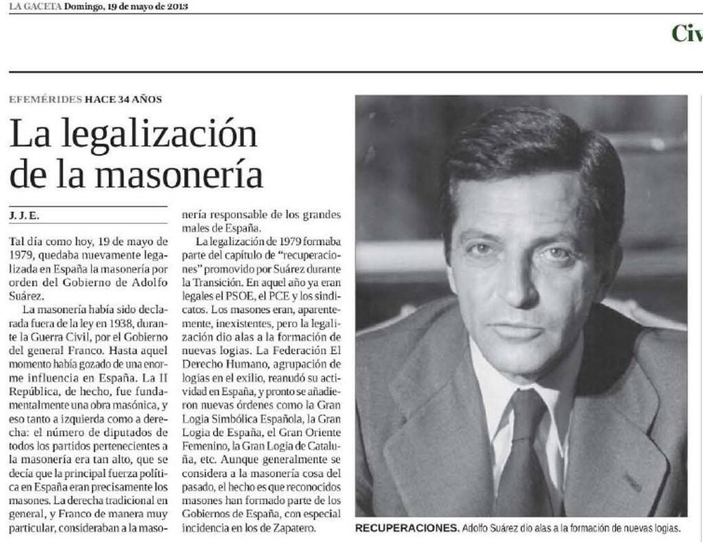 Memórias de Espanha - O regresso da Maçonaria