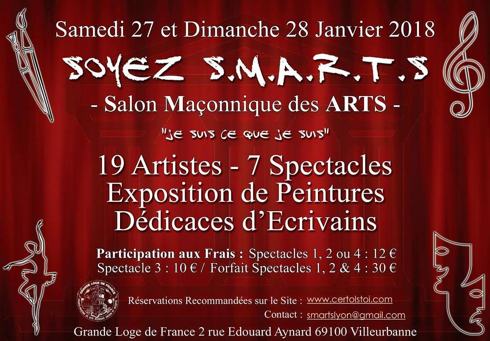 Salon Maçonnique des ARTS | 27 et 28 Janvier 2018