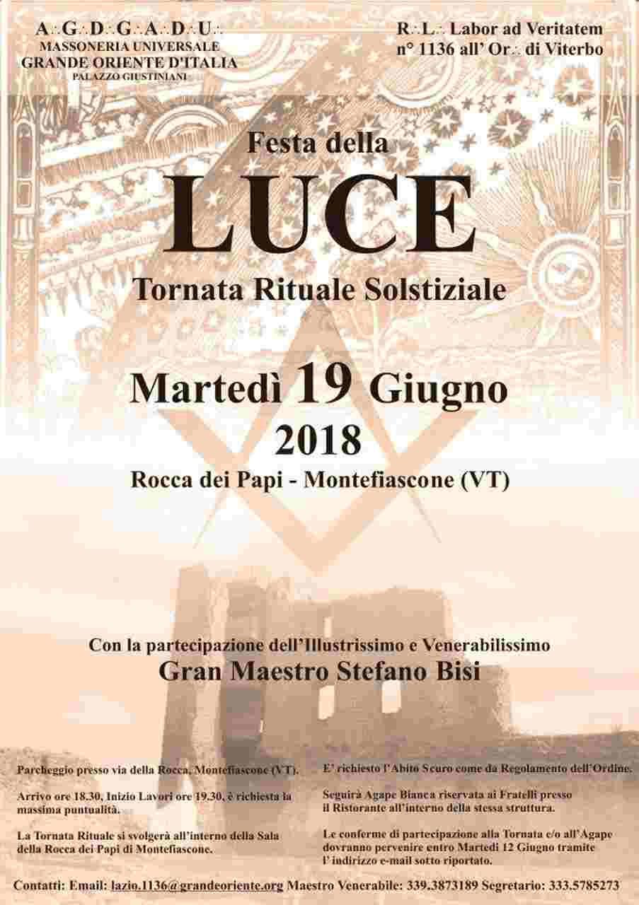 Festas das Luzes em Itália | Grande Oriente de Itália
