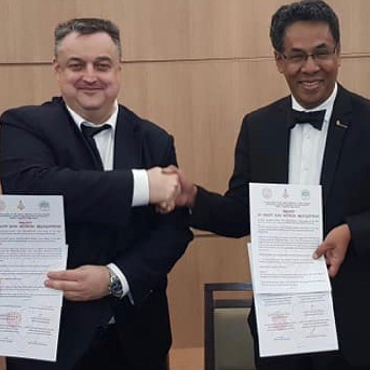 Grande Loja Unida da Rússia e a Grande Loja de Madagáscar   TRATADO