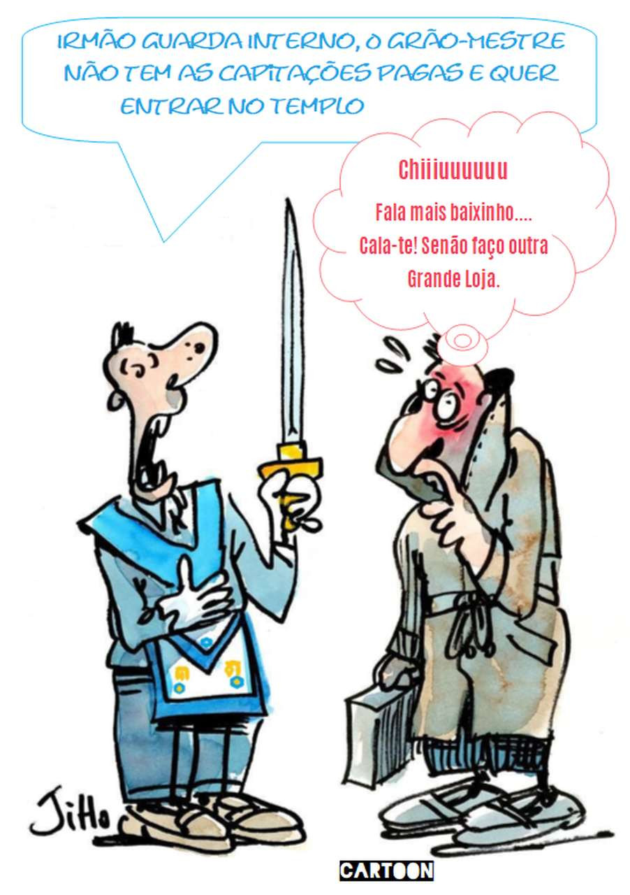 Cartoon: - Honestidade com humor