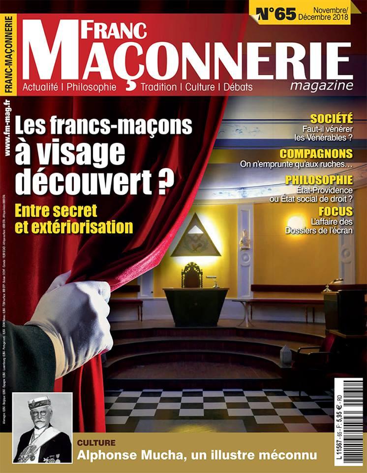 Capa do número 65º e que sairá daqui a uns dias! Revista « FRANC-MAÇONNERIE »