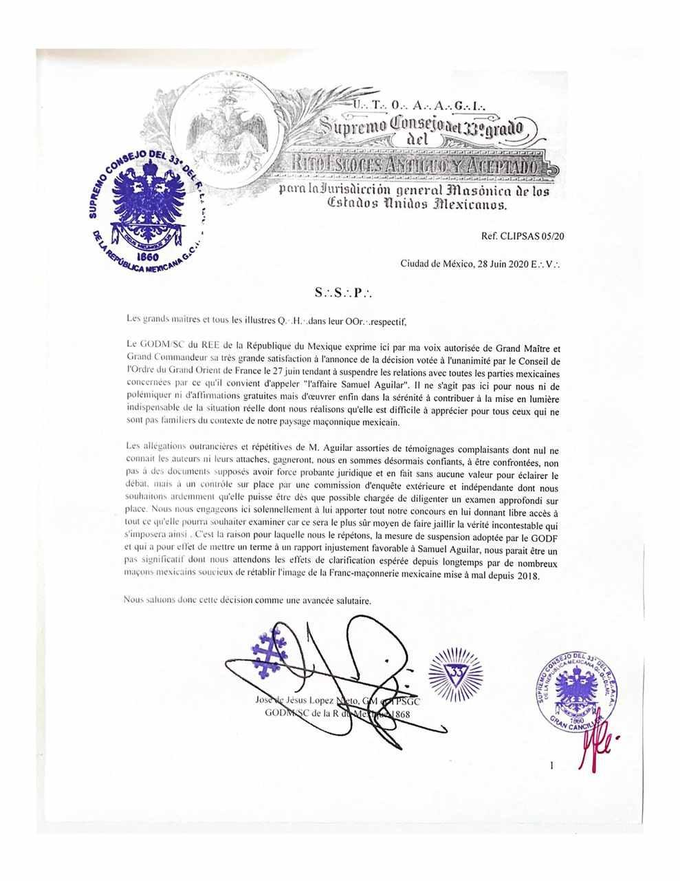 Maçonaria - Supremo Conselho do México (grupo GODF) promove esclarecimentos