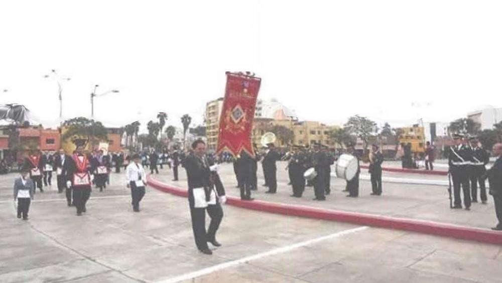 Masonería - Homenaje, por el día de dicho símbolo de la Patria, que se celebra cada 7 de junio