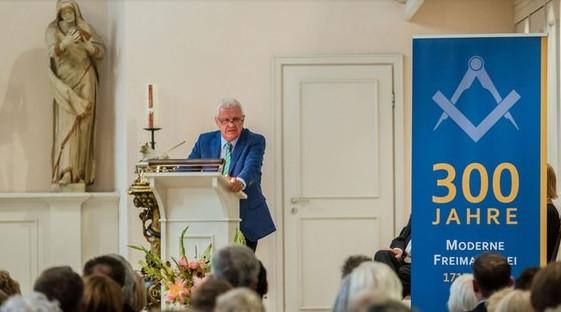 Presidente Jürgen Gansäuer nos 300 anos da Maçonaria Moderna