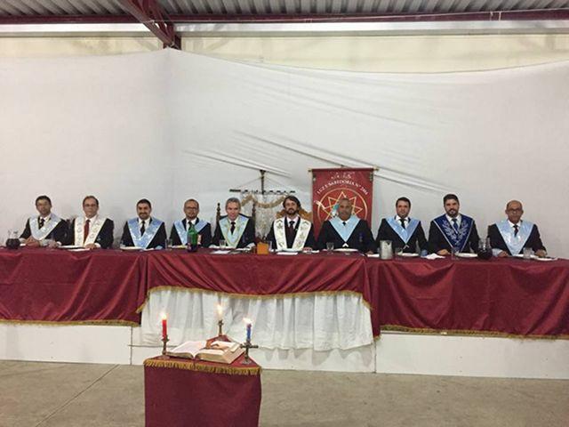 """Banquete Ritualístico promovido pela Loja """"Luz e Sabedoria"""", com o número 2484"""