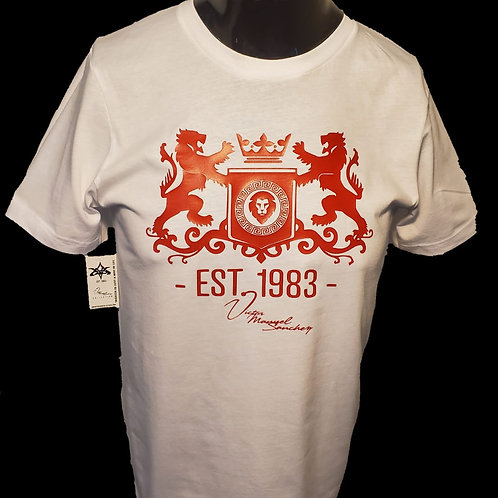Standing Lion Crest White/Red