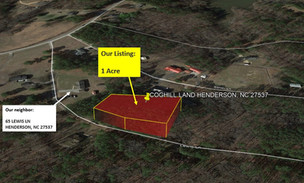1 Acre lot in Vance County, NC with City Water & Sewer