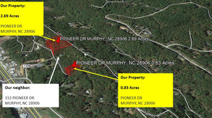 2 lots in Cherokee County, NC for $400.87/Month