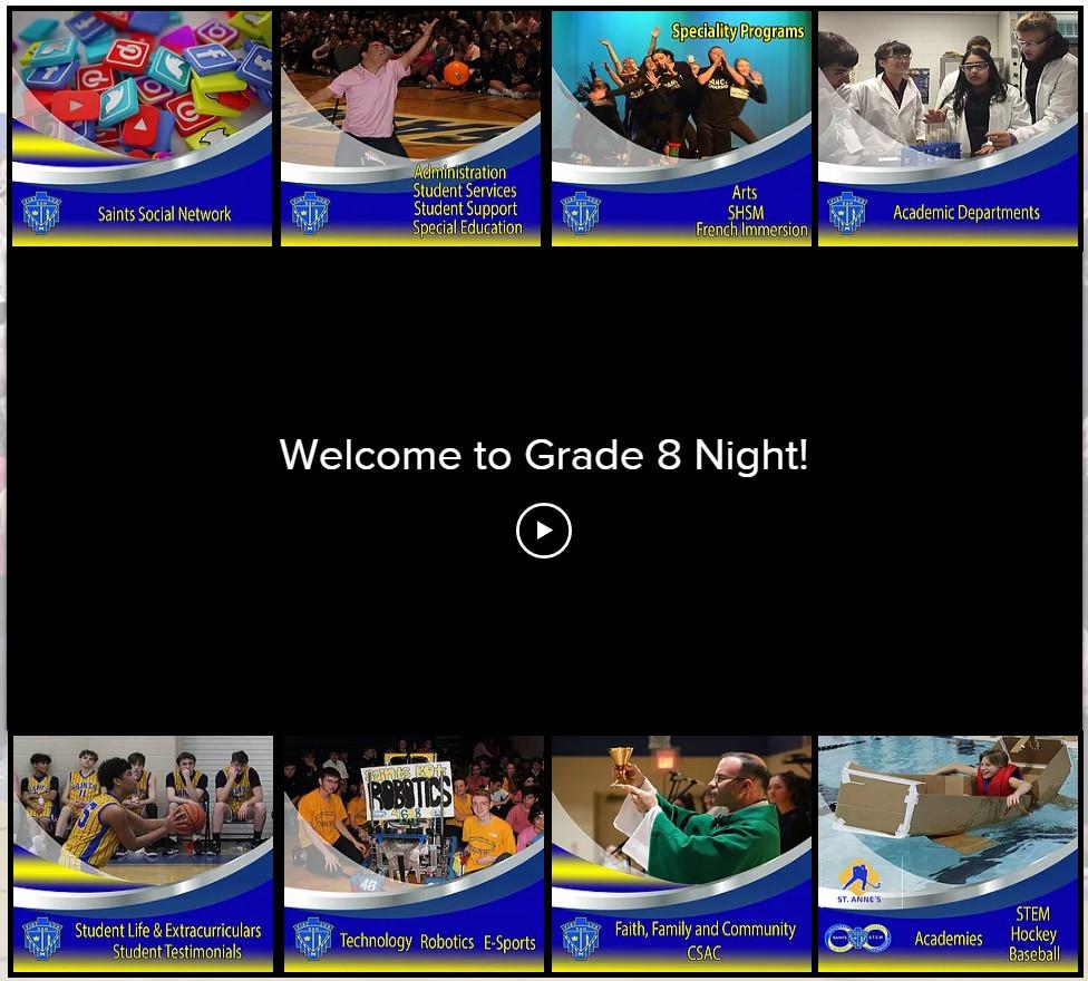 Virtual Grade 8 Night