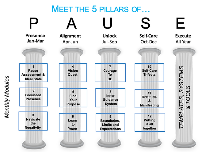 5 Pillars of Pause graphic