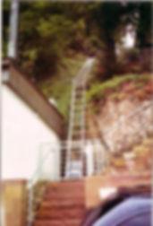 Leiterlift am Hang Geda Stecklift