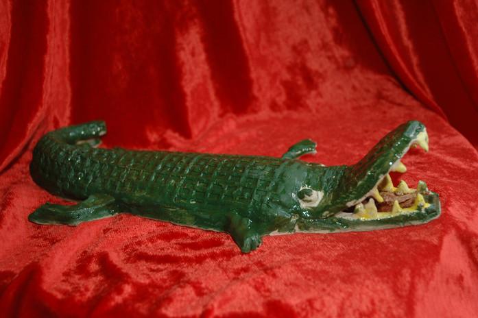 Slab built Crocodile