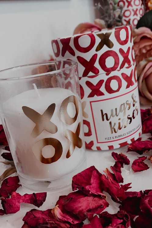 Candlelight Hugs & Kisses Wax Filled Pot Candle in Gift Box Prosecco Scent 220g