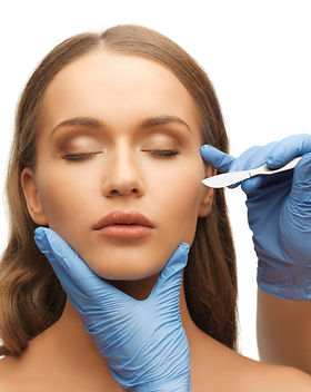picture of woman face and beautician han