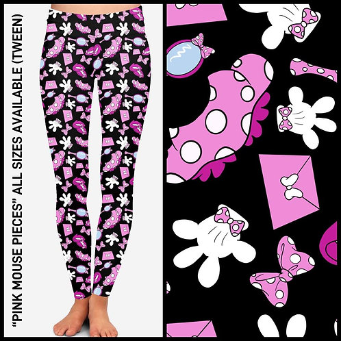 Pink Mouse Pieces Leggings ~ KIDS ONLY