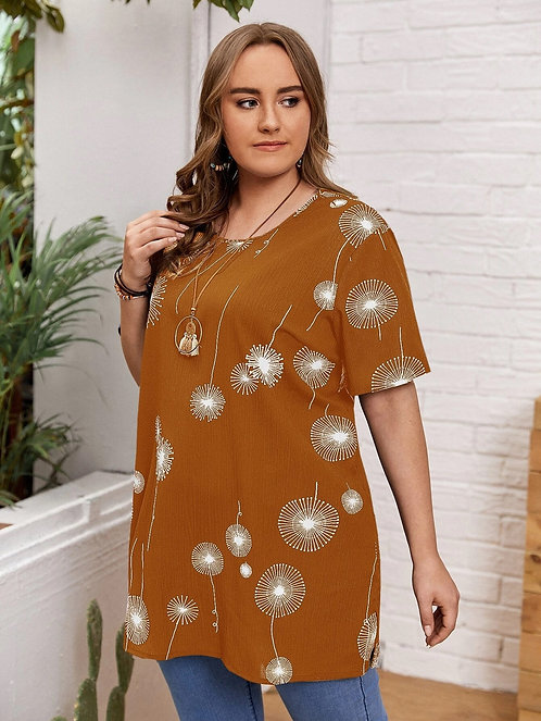 Dandelion Print Tunic ~ X Sizes ~ Multiple Color Options