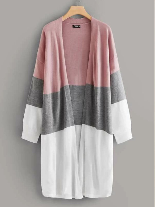 Drop Shoulder Colorblock Cardigan ~ X sizes
