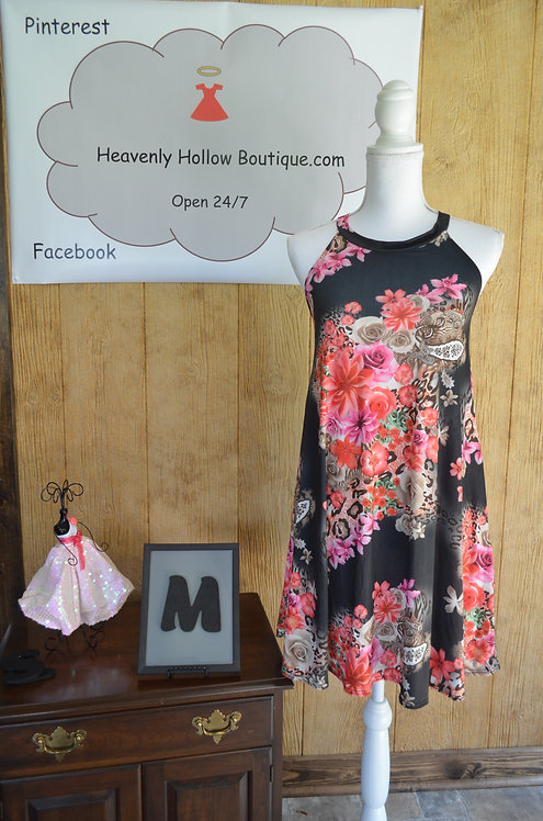 Floral/Animal Print Tunic/Dress