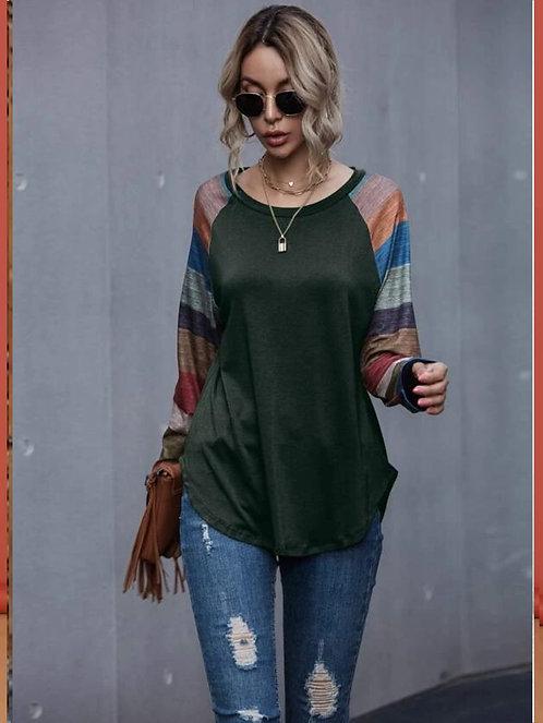 Colorblock Raglan Sleeve Tee ~ S thru XL ~ Color Options