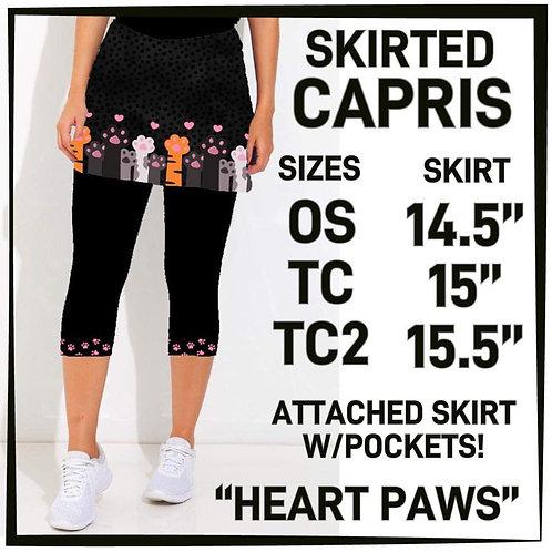 Heart Paws Skirted Capris