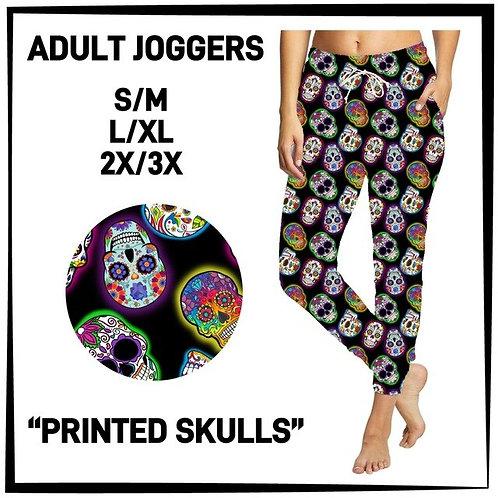 Printed Skulls Joggers