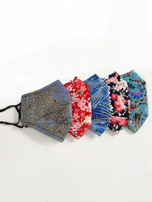 Women's  Style Face Covering ~ Floral or Tie Dye ~ Sold as Sets