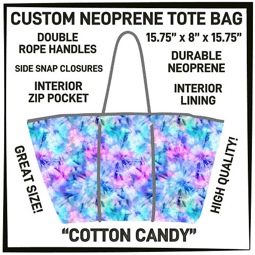Cotton Candy Tie Dye Neoprene Bag