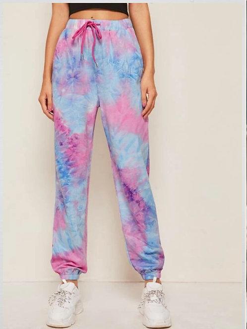 Drawstring Waist Tie Dye Sweatpants ~ S thru XL ~ Multiple Colors