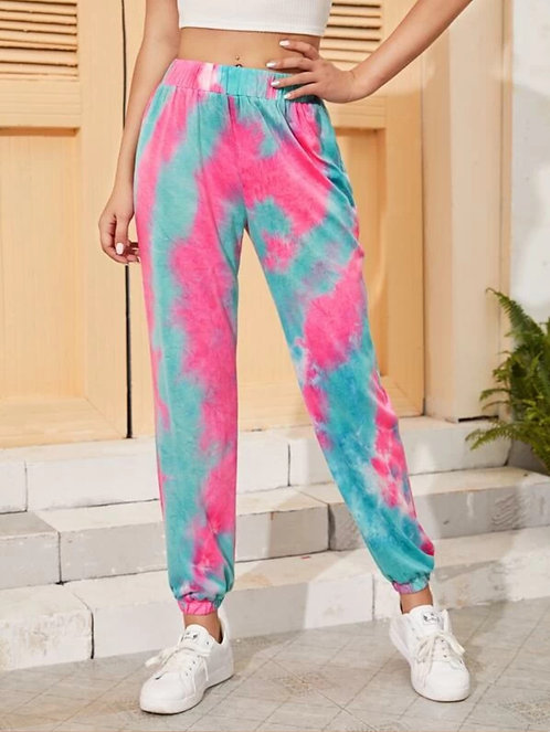 Tie Dye Elastic Waist Sweatpants ~ S thru XL ~ color options