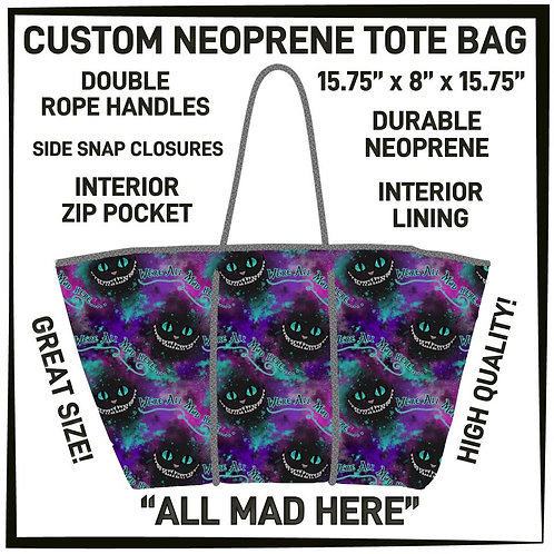 All Mad Here Neoprene Bag