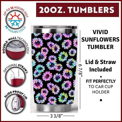 Vivid Sunflowers Tumbler