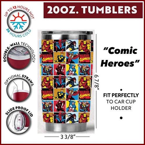 Comic Heroes Tumbler
