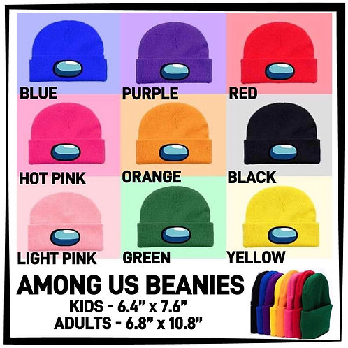 Among Us Beanies  ~ Kids ONLY