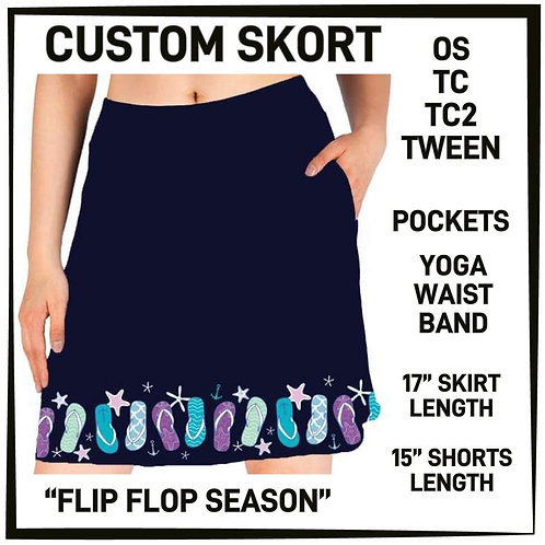 Flip Flop Season Skort
