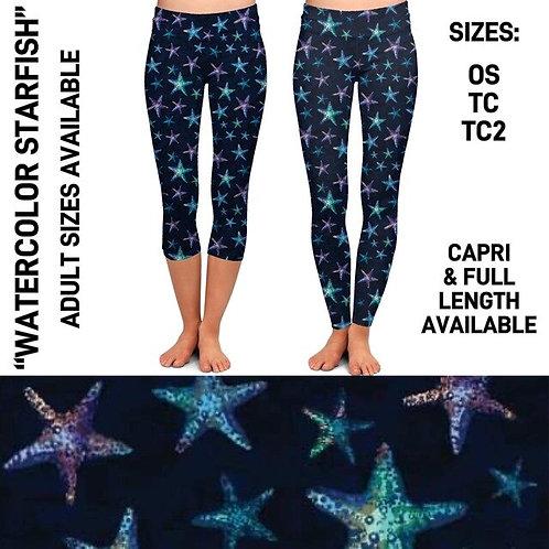 Watercolor Starfish Leggings