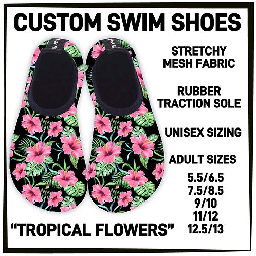 Tropical Flowers Water/Swim Shoes