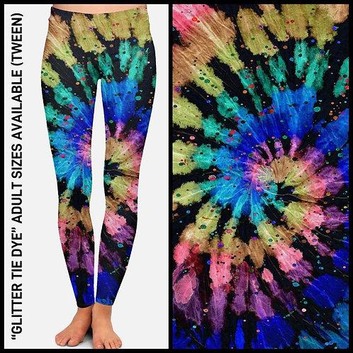 Glitter Tie Dye Leggings