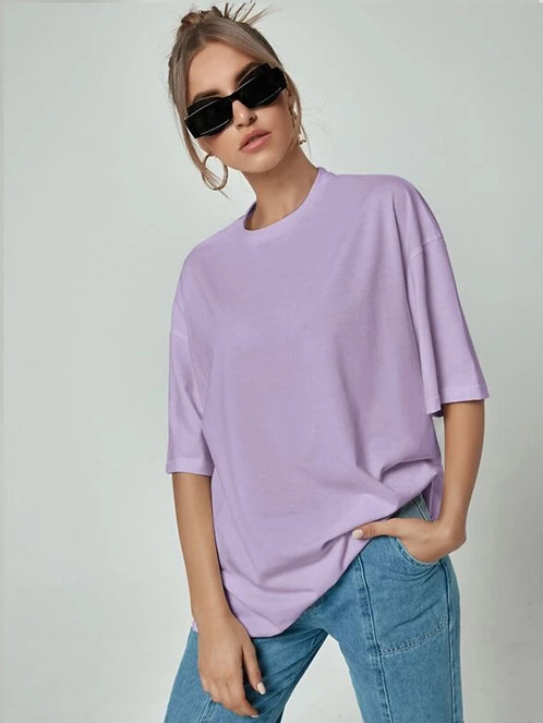 Solid Longline Oversized Tee ~XS thru L ~Multiple Colors