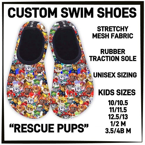 Rescue Pups Water/Swim Shoes  ~ Kids Only