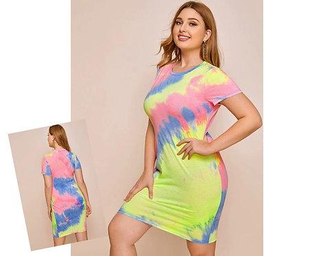 Tie Dye Dress ~ X sizes ~ Multiple Color Options
