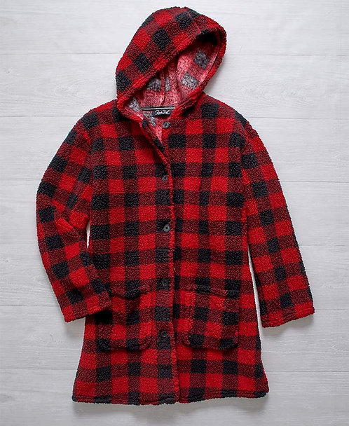 Hooded Button-Down Cuddle Jackets ~ M thru 3XL ~ Multiple prints