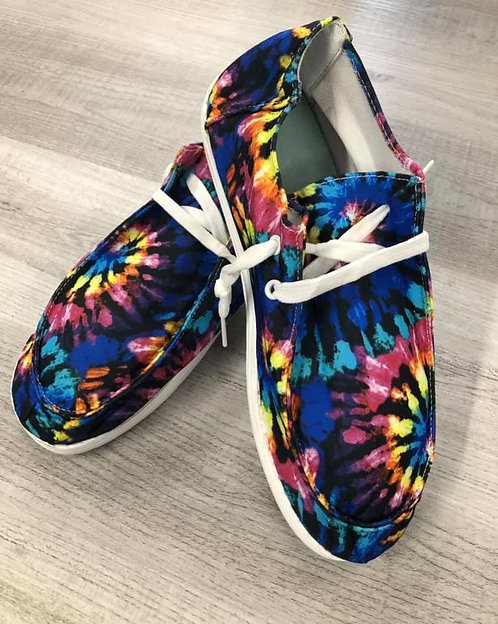 Classic Tie Dye Canvas Boat Shoes